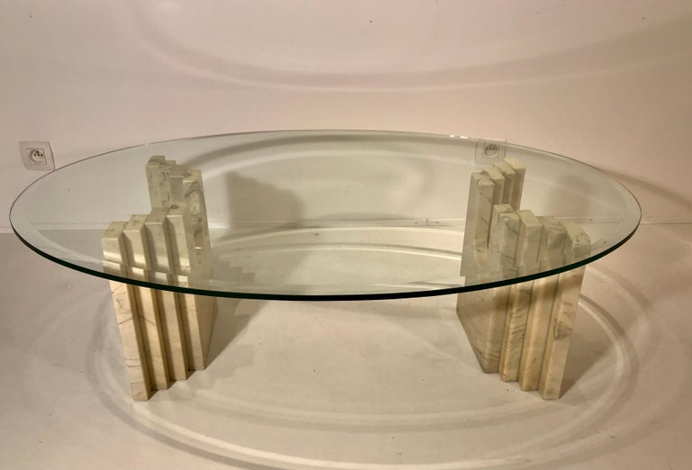 Glass Coffee Table Attributed to Tobia Scarpa For Sale