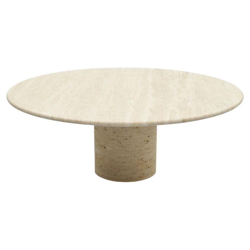 Coffee Table by Up & Up in Italian Travertine Stone 1970s