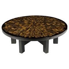 Coffee Table Circular in Tiger Eyes by Etienne Allemeersch