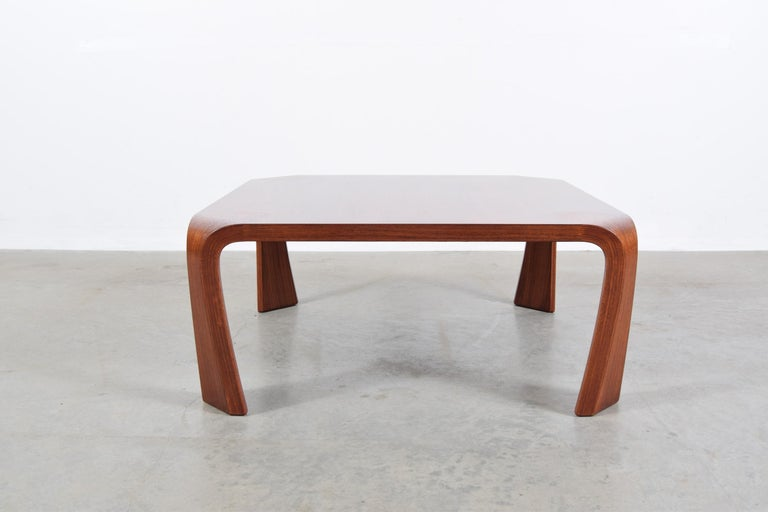 Mid-Century Modern Coffee Table Designed by Saburo Inui for Tendo Mokko, Japan, circa 1960 For Sale