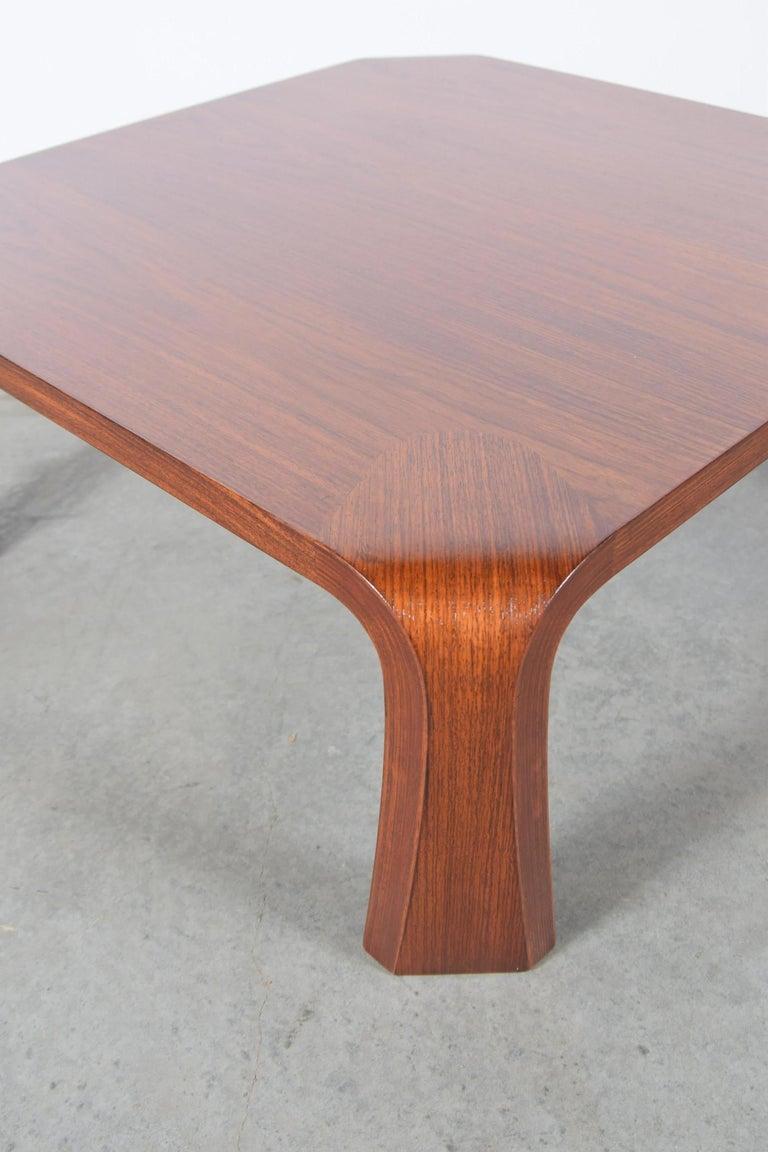 Elm Coffee Table Designed by Saburo Inui for Tendo Mokko, Japan, circa 1960 For Sale