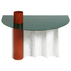Coffee Table / Disused Collection with Marble and Powder-Coated Steel
