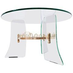 Glass Coffee Table, Fontana Arte Style, 1950s