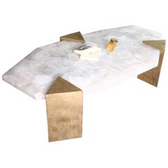 Coffee Table Gemini in Rock Crystal by Jean-Yves Lanvin