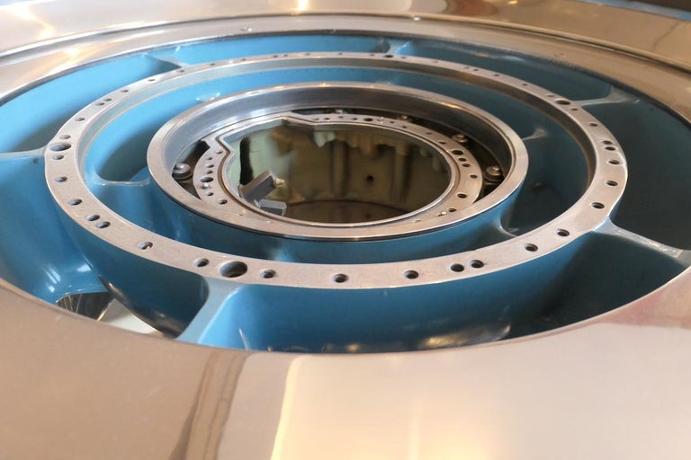 Coffee Table Genuine Part of a CFM-56 Aircraft Reactor For Sale 1