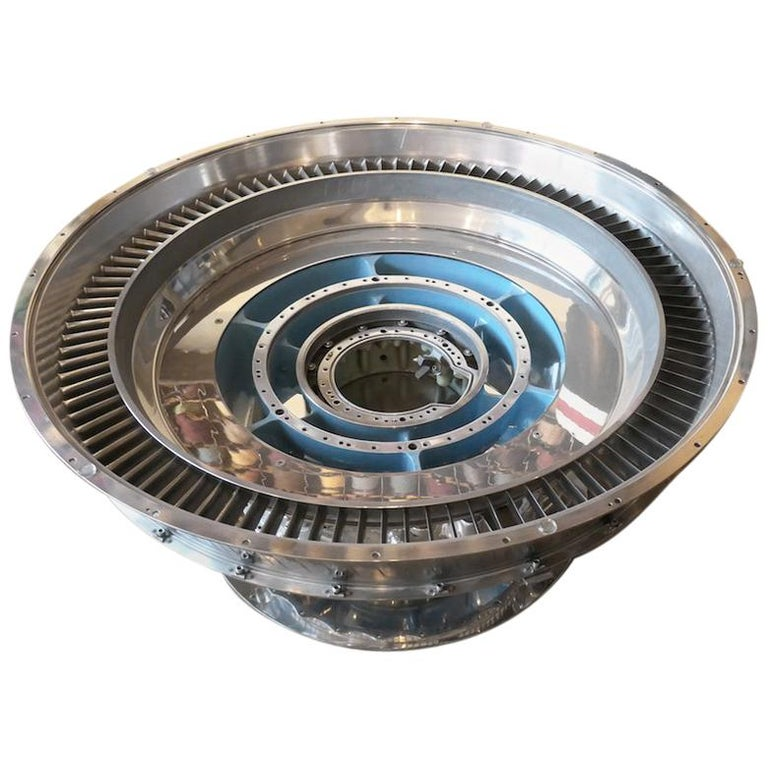 Coffee Table Genuine Part of a CFM-56 Aircraft Reactor For Sale