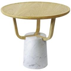 Coffee Table Hansel Indoor in Light Oak and Carrara Marble