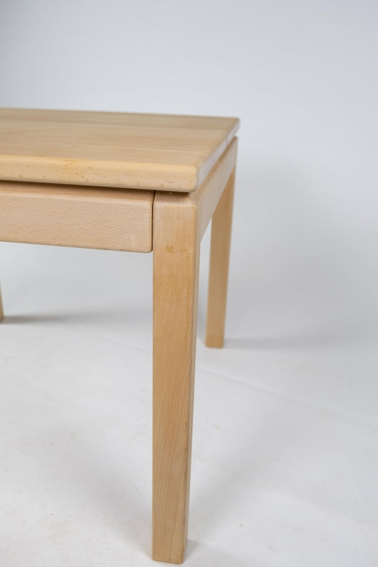 Coffee Table in Beech of Danish Design Manufactured by Brødrene Andersen, 1960s In Good Condition For Sale In Lejre, DK