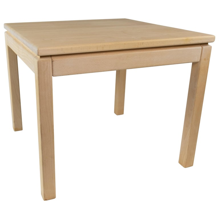 Coffee Table in Beech of Danish Design Manufactured by Brødrene Andersen, 1960s For Sale