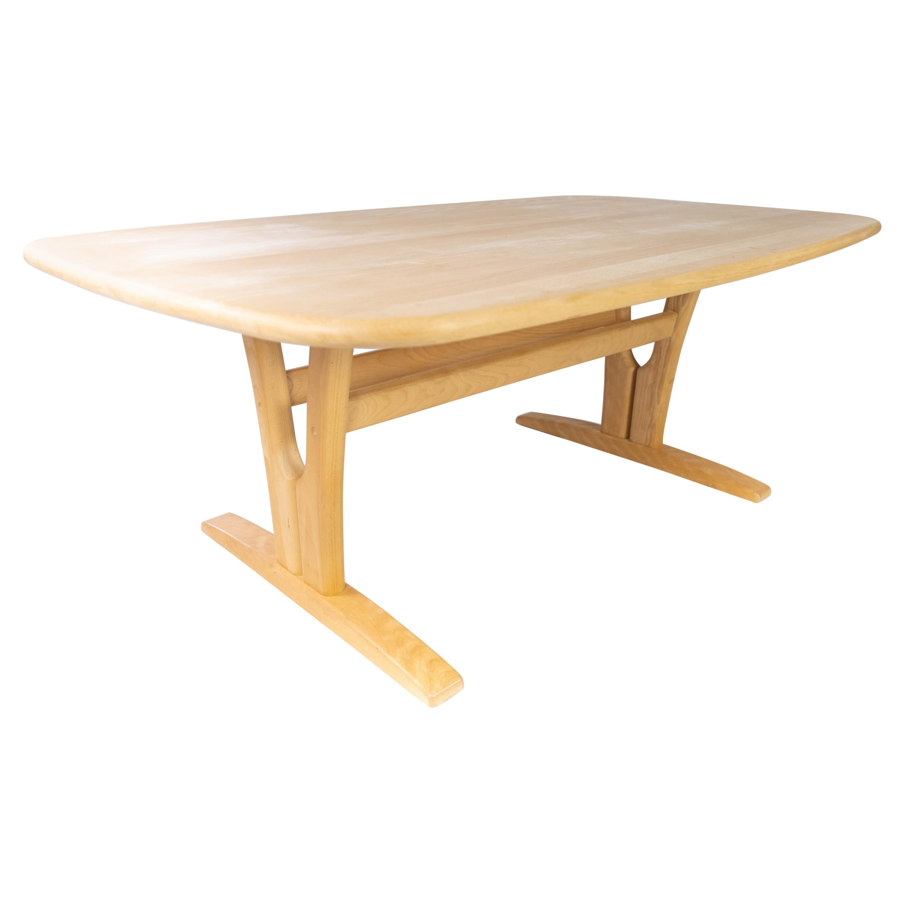 Coffee Table in Beech of Danish Design Manufactured by Skovby Furniture Factory