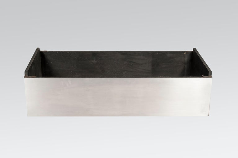Coffee Table in Black Resin and Marcassite by Jean Claude Dresse For Sale 3