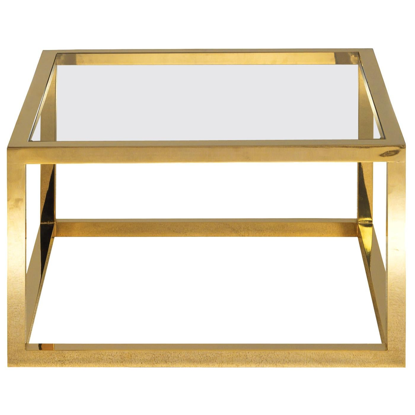 Coffee Table in Brass