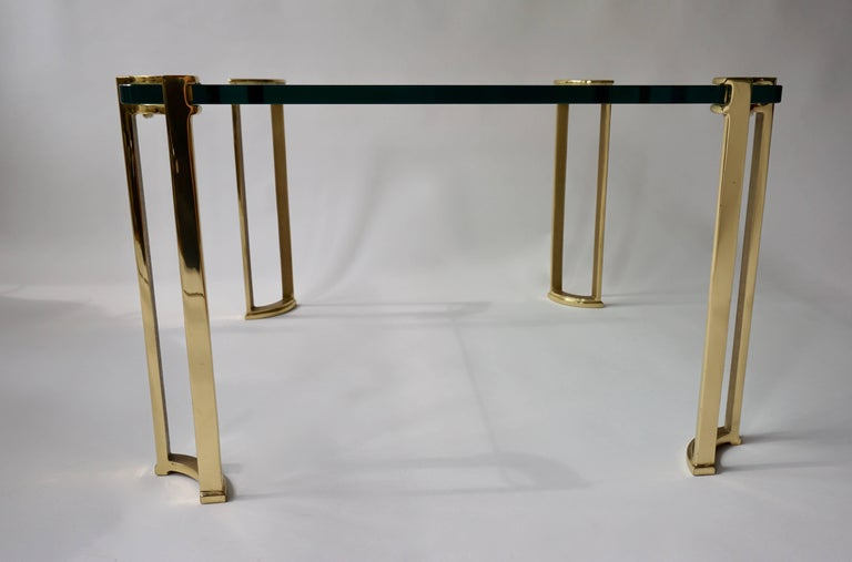 Coffee Table in Bronze and Glass In Good Condition For Sale In Antwerp, BE
