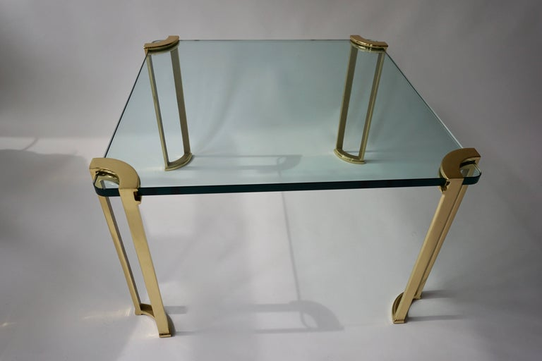 20th Century Coffee Table in Bronze and Glass For Sale