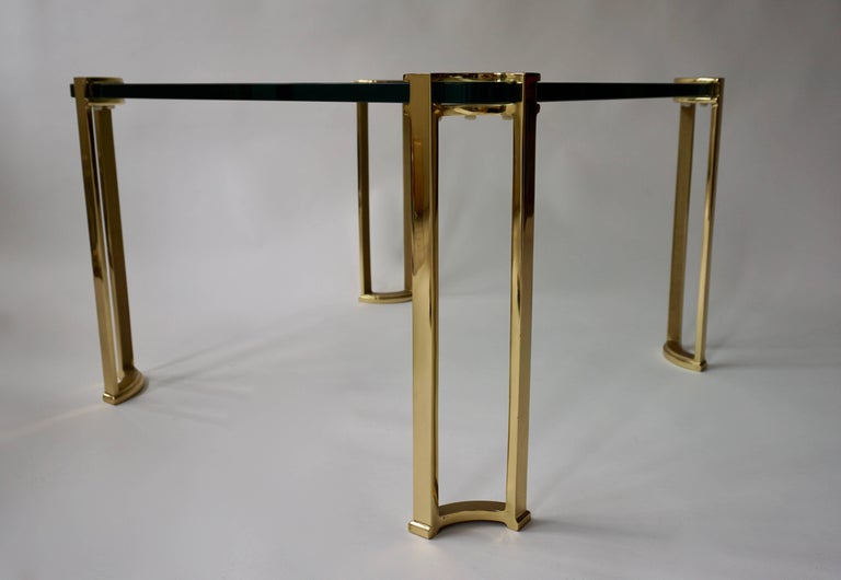 Coffee Table in Bronze and Glass For Sale 1
