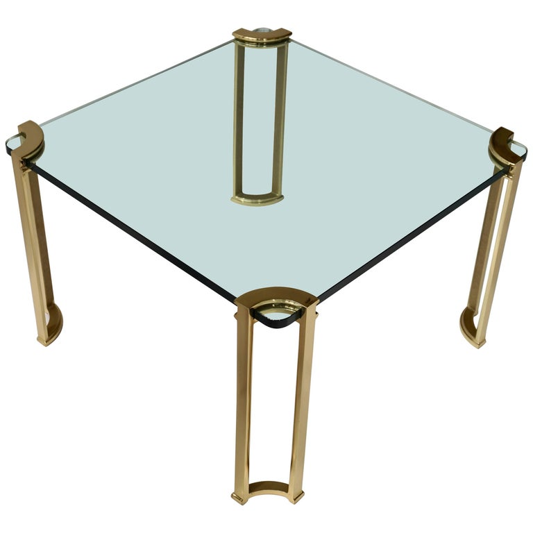 Coffee Table in Bronze and Glass For Sale