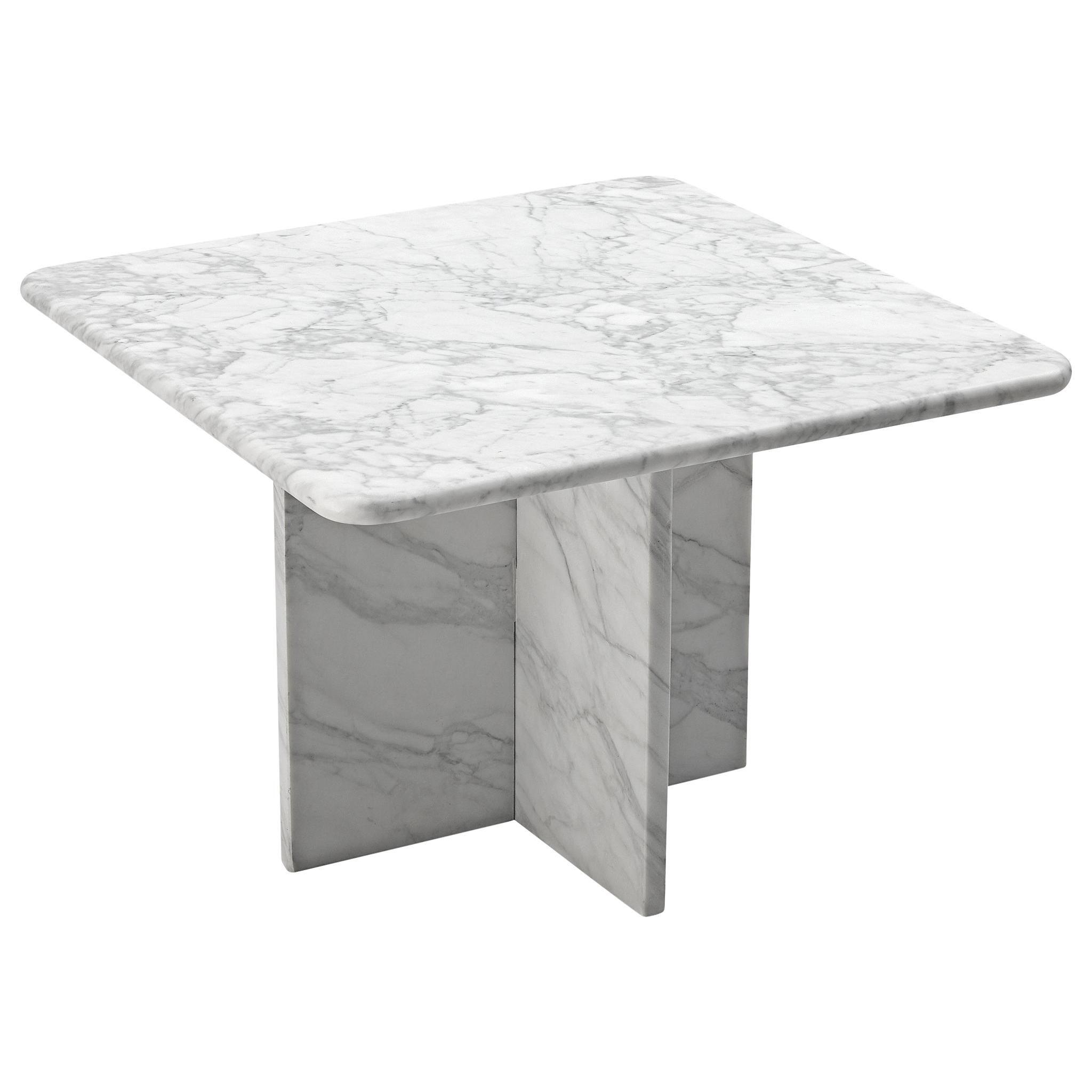 Coffee Table in Carrara Marble