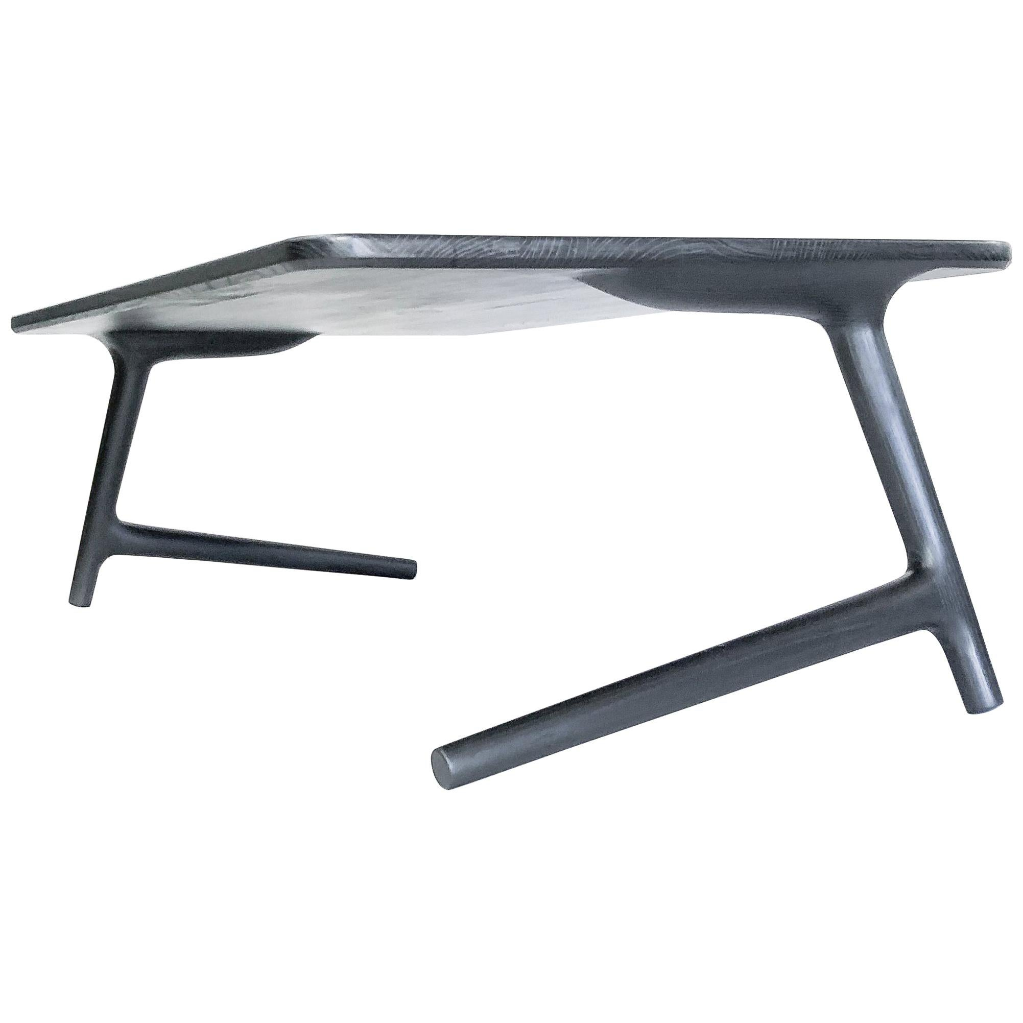 Coffee Table, Charcoal Ash Wood - Designed and Produced by Fernweh Woodworking