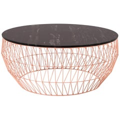 Coffee Table in Copper with Black Marble Top by Bend Goods