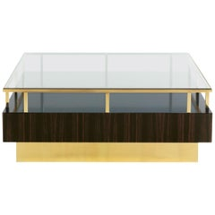 Coffee Table in Ebony and Glass