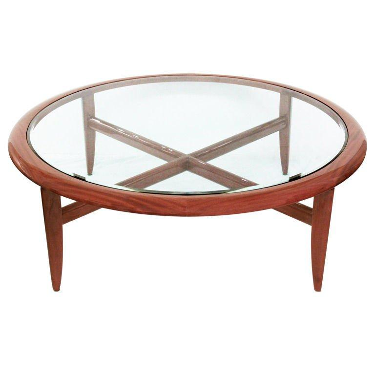 Hand-Crafted Coffee Table in Highly Lacquered Mahogany by Pace For Sale