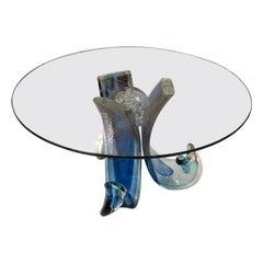 Alberto Dona - Coffee Table in Murano Glass blue
