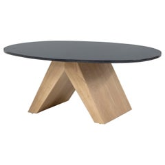 Coffee Table in Oak and Bronze by Tinatin Kilaberidze