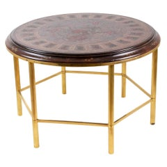 Coffee Table in Persian Style Lacquer and Gilt Bronze, 1950s