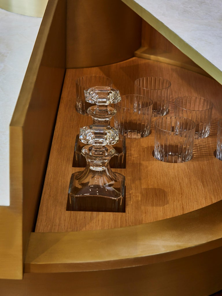 French Coffee Table in Rock Crystal by Studio Glustin For Sale