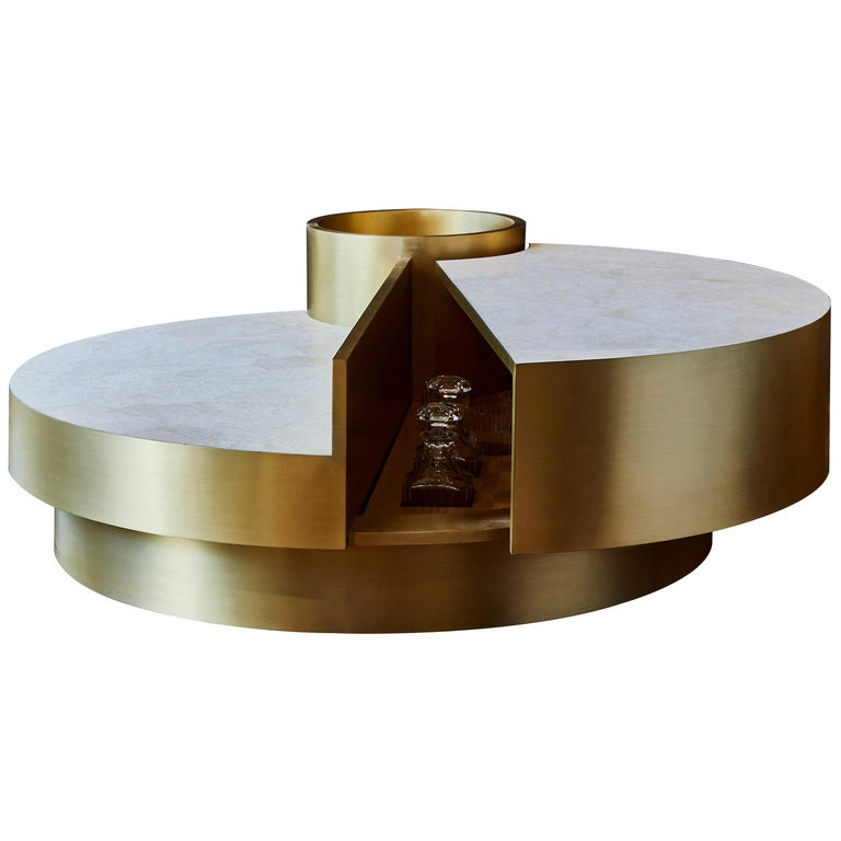 Coffee Table in Rock Crystal by Studio Glustin For Sale