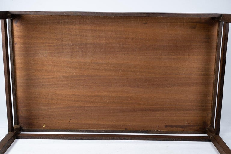 Coffee Table in Rosewood and Dark Tiles, Designed by Tue Poulsen from the 1970s For Sale 1