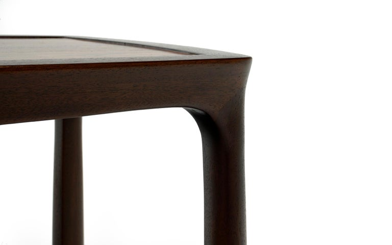 Mid-20th Century Coffee Table in Rosewood and Mahogany by Edward Wormley for Dunbar, Signed For Sale