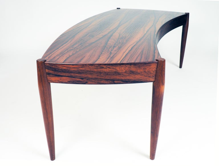 Scandinavian Modern Coffee Table in Rosewood by Johannes Andersen for Trensum, Sweden For Sale