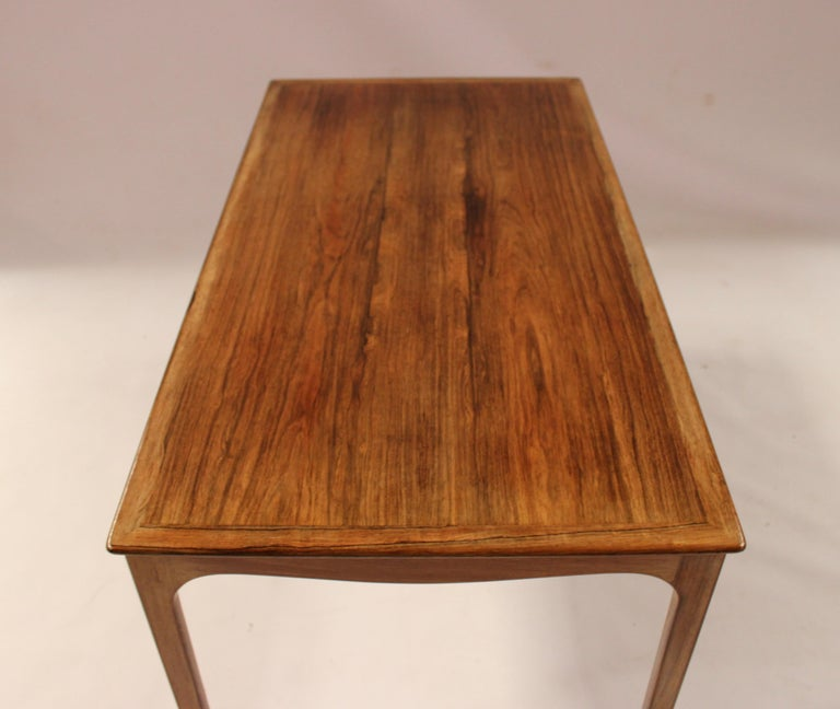 Danish Coffee Table in Rosewood by Ole Wanscher and A. J. Iversen, 1960s For Sale