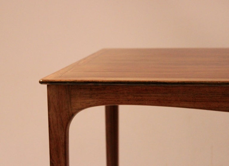 Coffee Table in Rosewood by Ole Wanscher and A. J. Iversen, 1960s In Good Condition For Sale In Lejre, DK