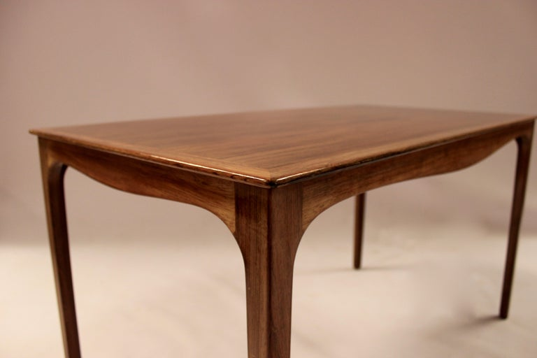Coffee Table in Rosewood by Ole Wanscher and A. J. Iversen, 1960s For Sale 1