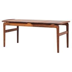 Coffee Table in Rosewood by Peter Hvidt & Orla Mølgaard Nielsen