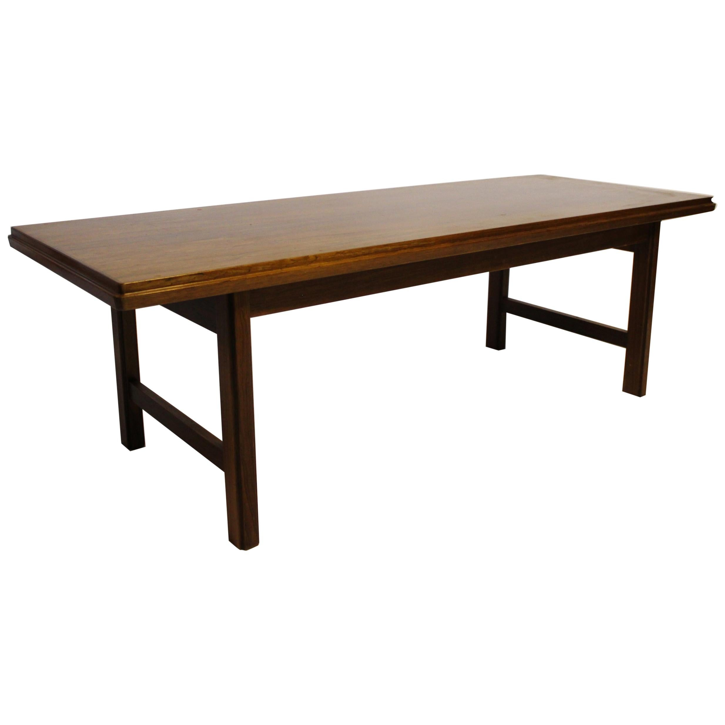 Coffee Table in Rosewood Designed by Edmund Jørgensen, 1960s