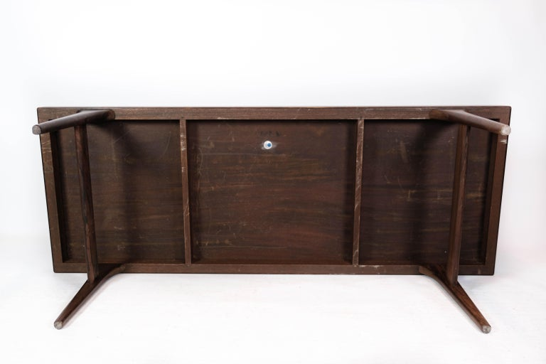 Coffee Table in Rosewood with Blue Tiles by Johannes Andersen, 1960s For Sale 4