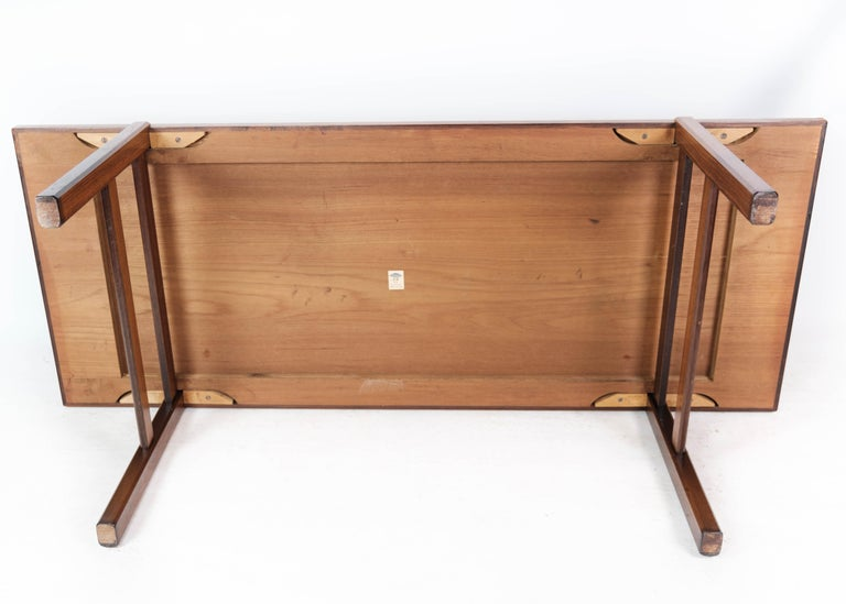 Coffee Table in Rosewood with Blue Tiles of Danish Design by Arrebo, 1960s For Sale 7