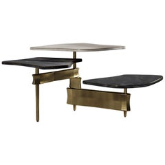 Coffee Table in Shagreen Shell and Bronze Patina Brass by Kifu Paris