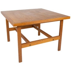 Coffee Table in Soap Treated Oak Designed by Hans J. Wegner from the 1960s