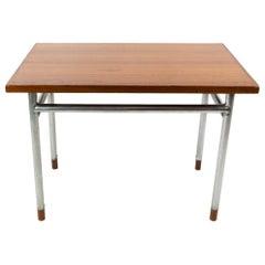 Coffee Table in Teak and Legs in Metal, Designed by Hans J. Wegner, 1960s