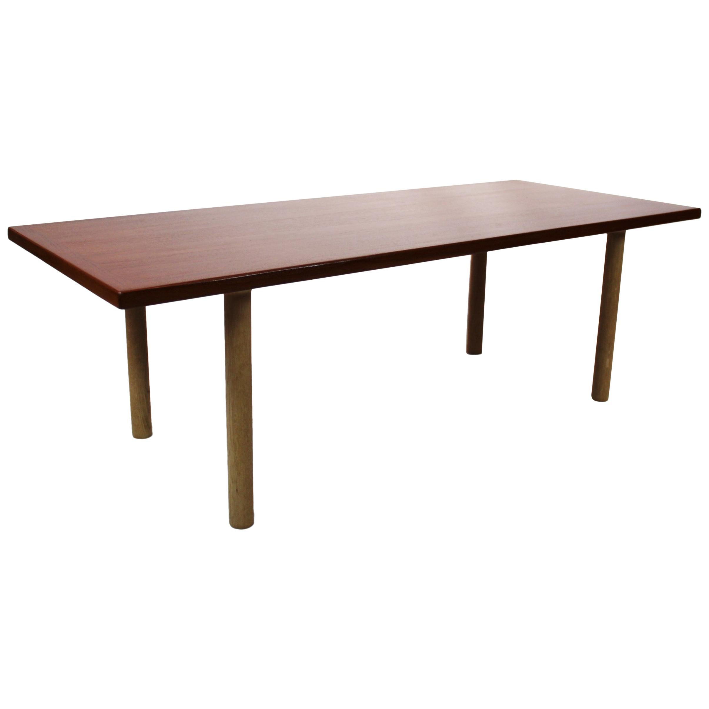 Coffee Table in Teak and Oak by Hans J. Wegner and Andreas Tuck, 1960s