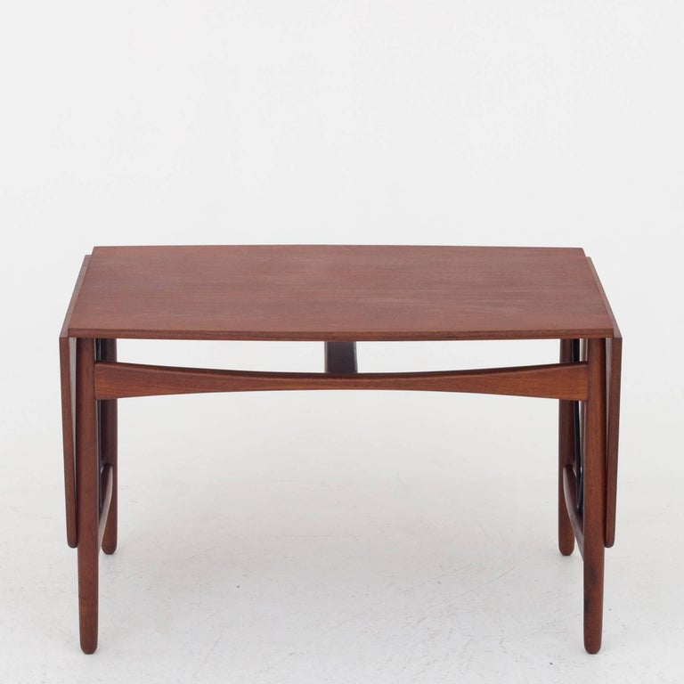 Coffee Table in Teak by Ejnar Larsen & Aksel B. Madsen For Sale 1
