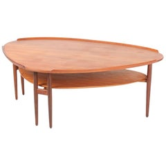 Coffee Table in Teak Designed by Arne Vodder for Bovirke, Made in Denmark
