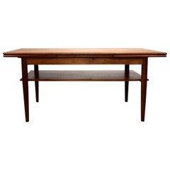 Coffee Table in Teak with Extension Leaves of Danish Design from the 1960s