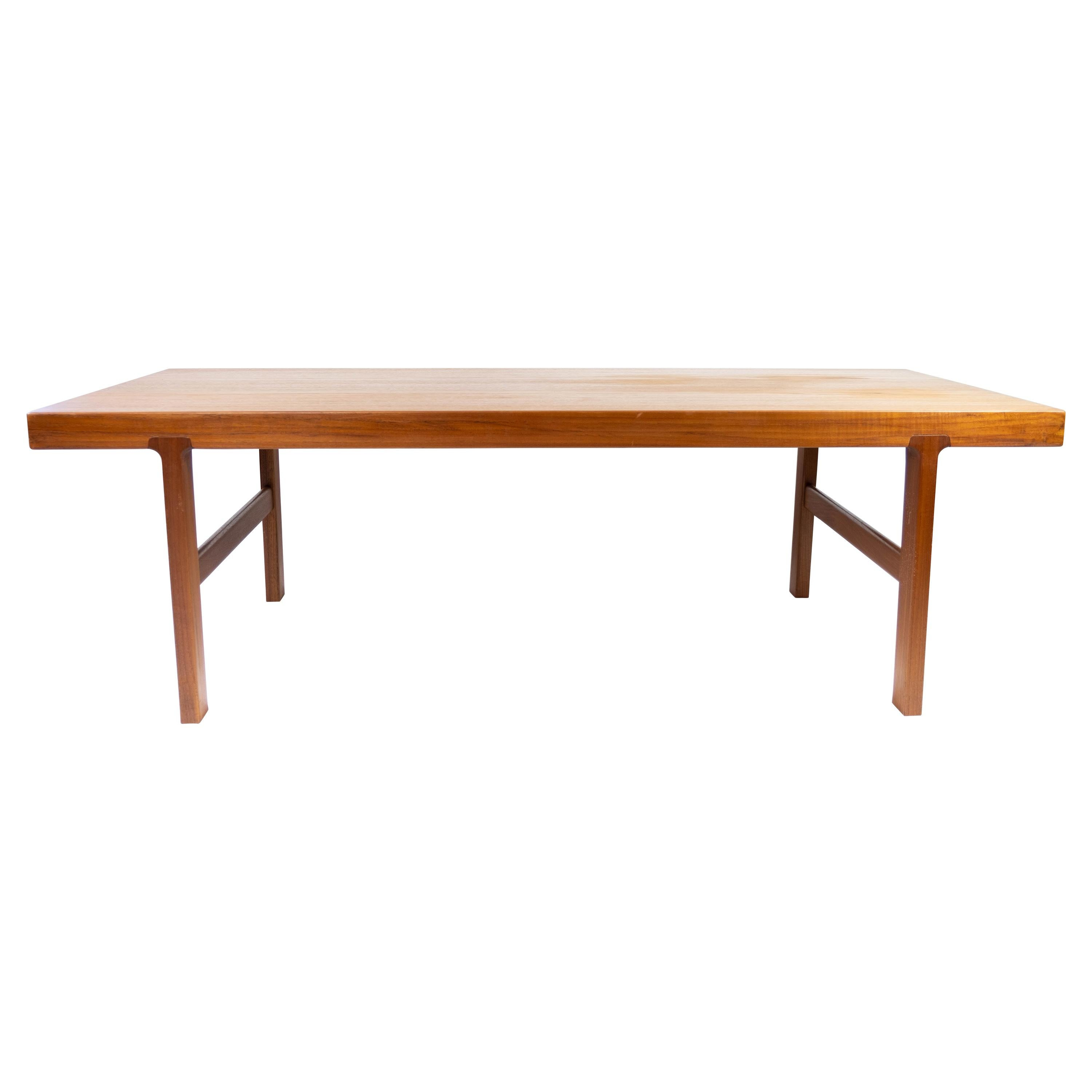 Coffee Table in Teak with Extension Plate of Danish Design from the 1960s
