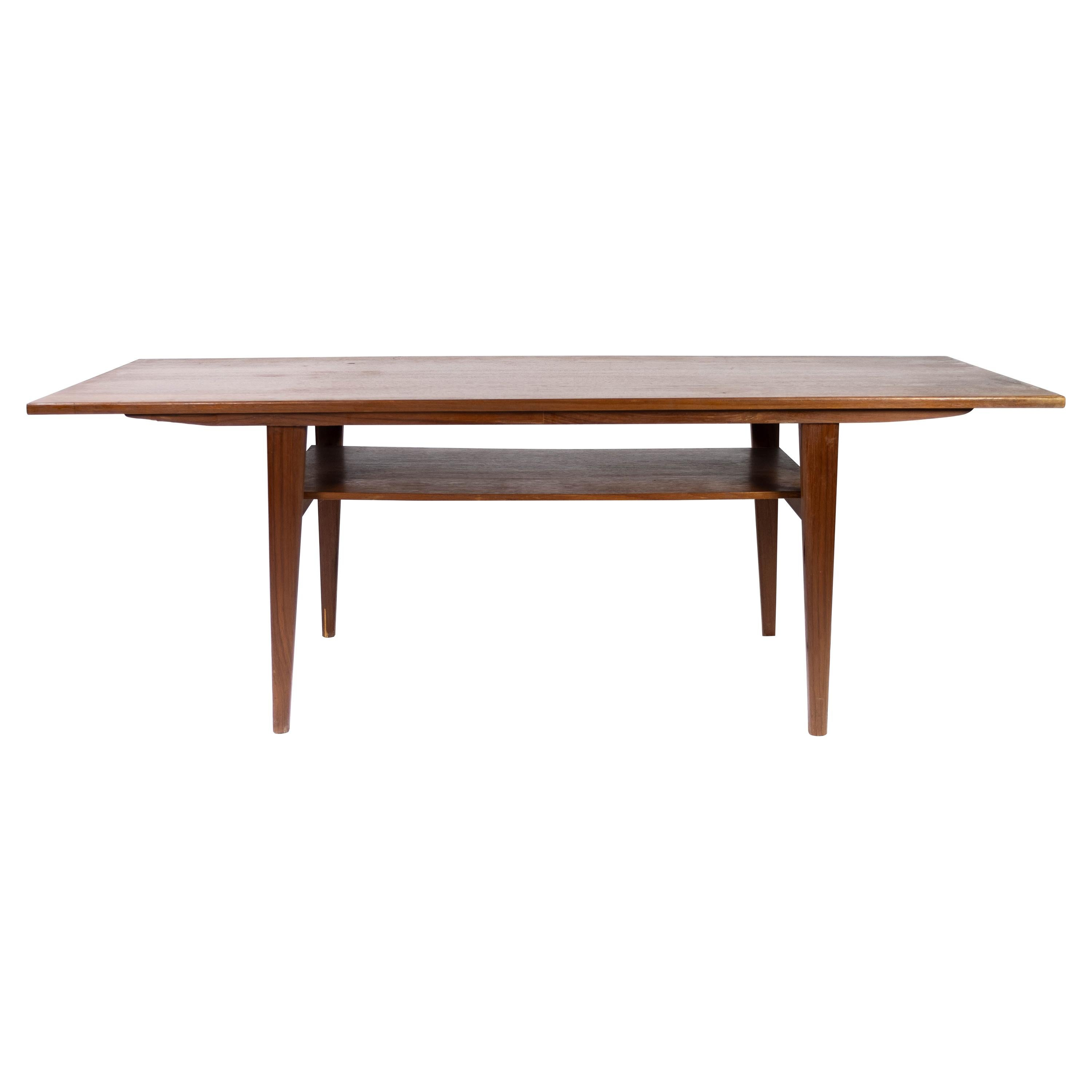 Coffee Table in Teak with Shelf, of Danish Design from the 1960s