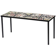 Coffee Table in the Style of Jacques Avoinet, circa 1960 Concrete, Metal, Glass